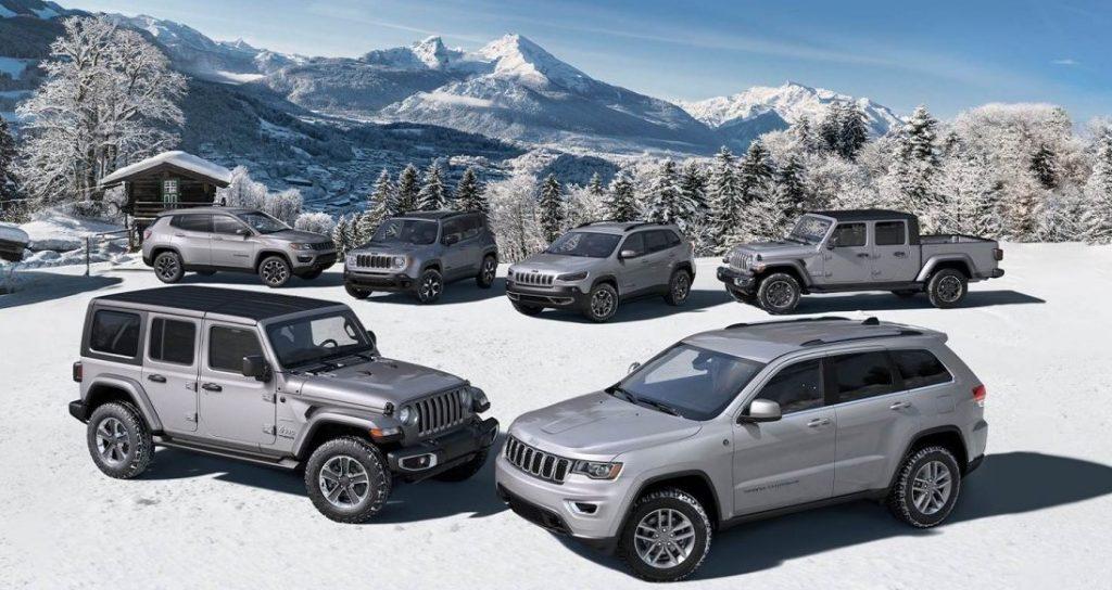 Diferentes Jeep North Edition 2020 ideales para la nieve