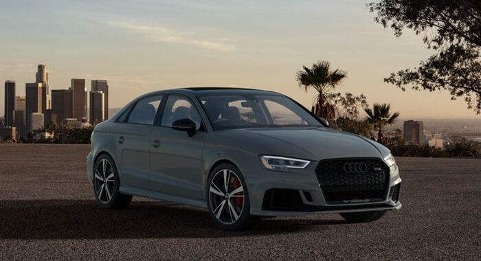 El Audi RS3 2020 ahora está disponible en Nardo Gray y es edición limitada.